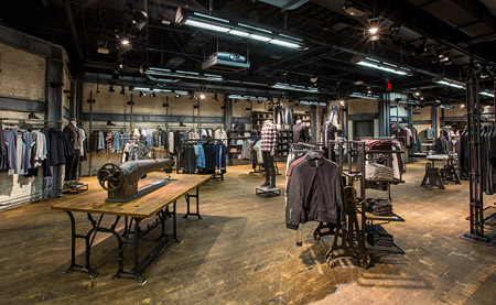 AllSaints store in Las Vegas, US, with new LED lighting system from Philips Lighting