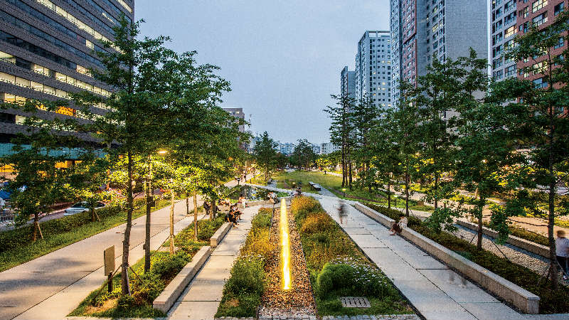 Gyeongui Line forest walkway lighting design project