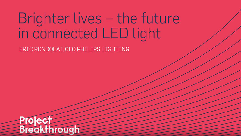Eric Rondolat CEO of Philips Lighting