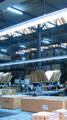 Warehouse illuminated effectively with Philips dynamic lighting