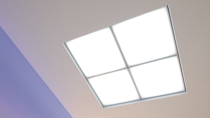 Philips Lighting's HealWell ceiling module improves patient experience with light that feels natural and supports sleep rhythms