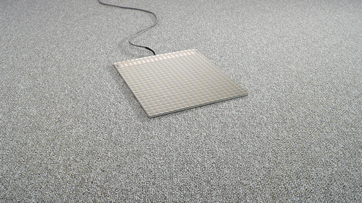 Philips Lighting's Luminous flooring: Project your logo with the LC Symbol (custom) LED floor panel