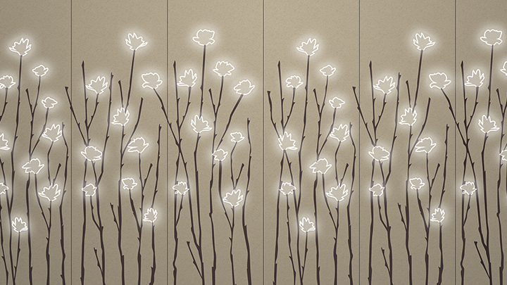 Beautiful design lighting is easy to achieve with Philips Lighting's Luminous pattern in Magnolia