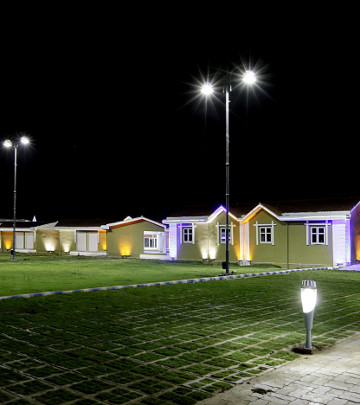 Color changing dynamic LED lighting providing a touch of elegance to the area