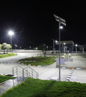 Solar LED lights installed across all key areas within the Khamgaon plant