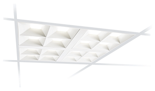2x2 LED recessed luminaire for office areas
