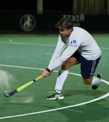 Enjoy playing hockey without wasting energy with OptiVision LED sports lighting